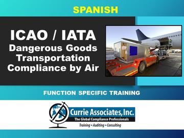 Dangerous Goods Transportation Compliance by Air (ICAO/IATA) 62nd Edition 2021- Spanish