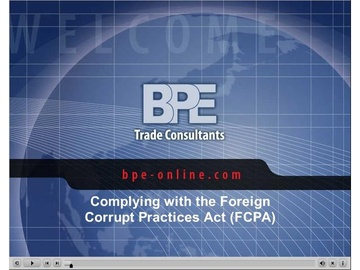 Complying with the Foreign Corrupt Practices Act (FCPA)