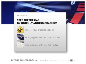 Module 5: Stepping on the Gas by Quickly Adding Graphics