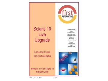 Solaris 10 Live Upgrade Workshop