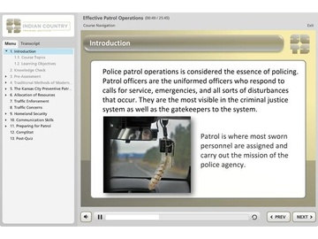 Effective Patrol Operations for Tribal Law Enforcement Course
