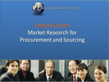 Sample Course - Sourcing