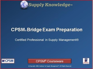 CPSM Self Study Bridge Exam Preparation -