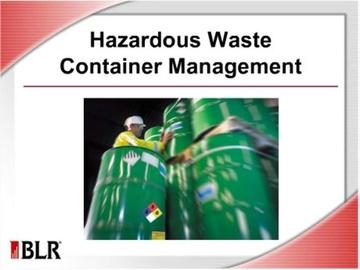 Hazardous Waste Container Management