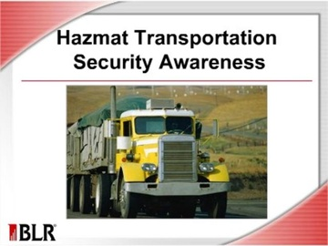 HAZMAT Transportation Security Awareness