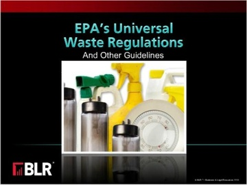 EPA's Universal Waste Regulations