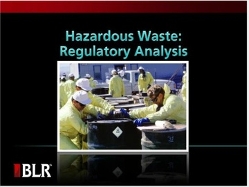 Hazardous Waste - Regulatory Analysis