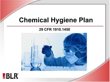 Chemical Hygiene Plan Course