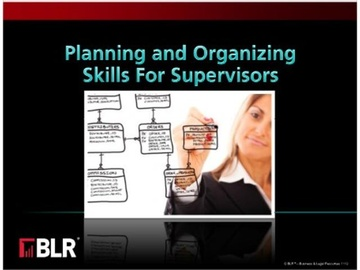 Planning and Organizing Skills for Supervisors Course