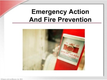Emergency Action and Fire Prevention Course
