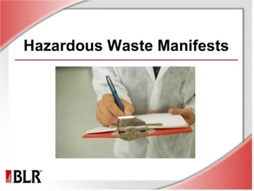 Hazardous Waste Manifests Course