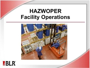 HAZWOPER Facility Operations Course