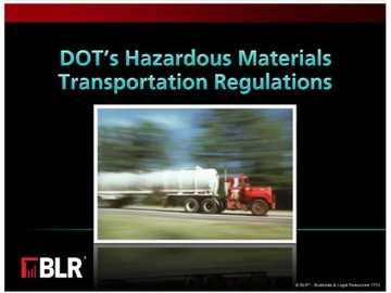DOT's Hazardous Materials Transporation Regulations Course