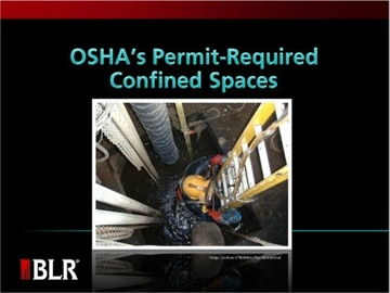 OSHA's Permit-Required Confined Spaces