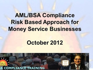Basic Risk Based Approach for Money Service Businesses