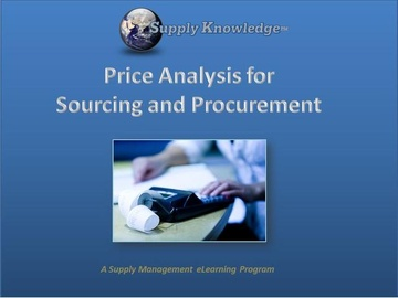 Price Analysis for Sourcing and Procurement