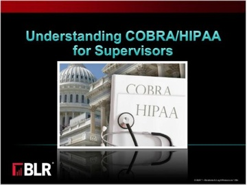 Understanding COBRA/HIPAA for Supervisors