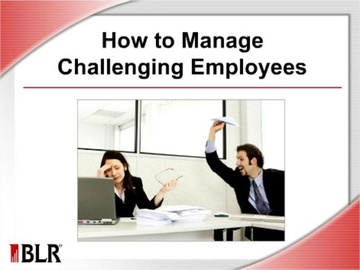 How to Manage Challenging Employees Course