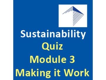 Design-Build and Sustainability - Quiz Module 3