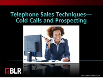 Telephone Sales Techniques - Cold Calls and Prospecting Course