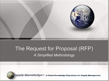 The Request for Proposal (RFP)