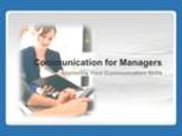 Communication for Managers Course
