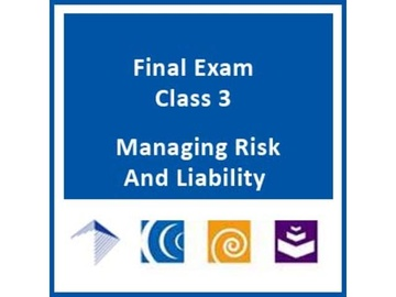 Managing Risk & Liability for Alternative Delivery Water / Wastewater Infrastructure - Final Exam