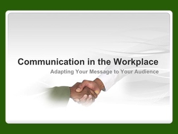 Communication in the Workplace Course