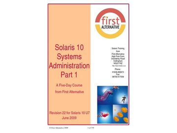 Solaris 10 Systems Administration Part 1