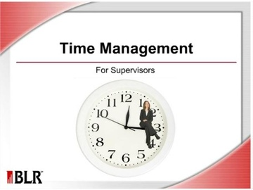 Time Management for Supervisors Course