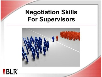Negotiation Skills For Supervisors Course