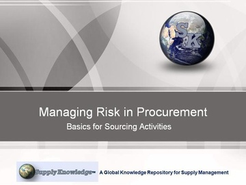 Managing Risk in Procurement