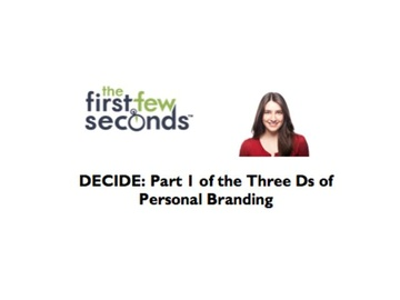 111 DECIDE: Part 1 of the Three Ds of Personal Branding