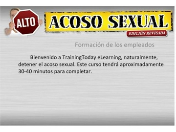 Alto Acoso Sexual - Formación de los empleados (Stop Sexual Harassment - training for employees)