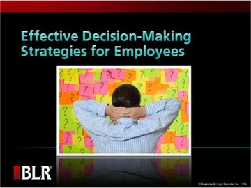 Effective Decision Making Strategies for Employees Course