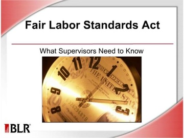 FLSA: What Supervisors Need to Know Course