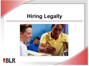 Hiring Legally Course