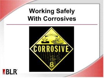 Working Safely with Corrosives Course