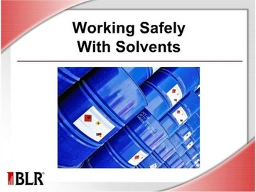 Working Safely With Solvents Course