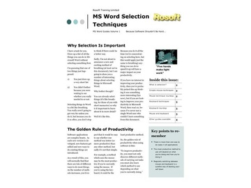 Word Selection Techniques