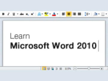 Learn Microsoft Word 2010