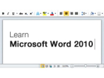 Getting Started in Word 2010
