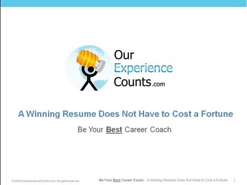 2. A Fabulous Resume Does Not Have to Cost a Fortune