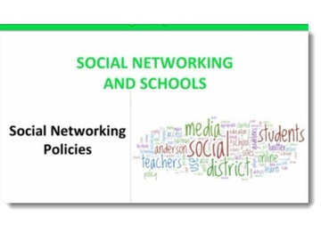 Social Networking Policies And Schools