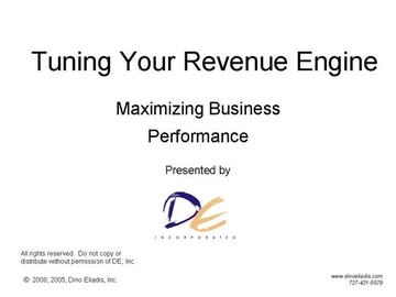 Tuning Your Revenue Engine - Concept