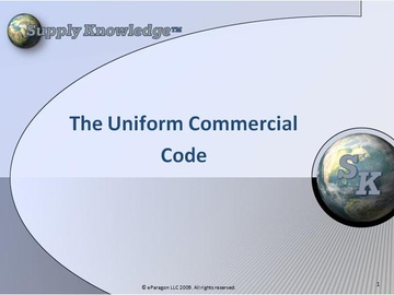 Introduction to the Uniform Commercial Code (UCC)
