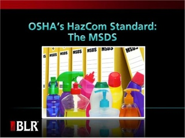 OSHA's HazCom Standard - the MSDS Course
