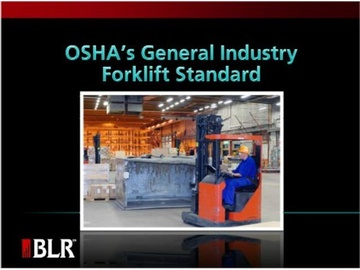 OSHA's General Industry Forklift Standard Course