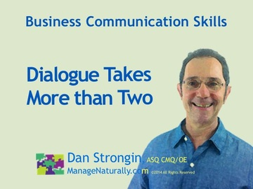 Dialogue Takes More Than Just Two