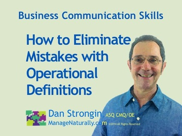 How to Eliminate Mistakes with Operational Definitions